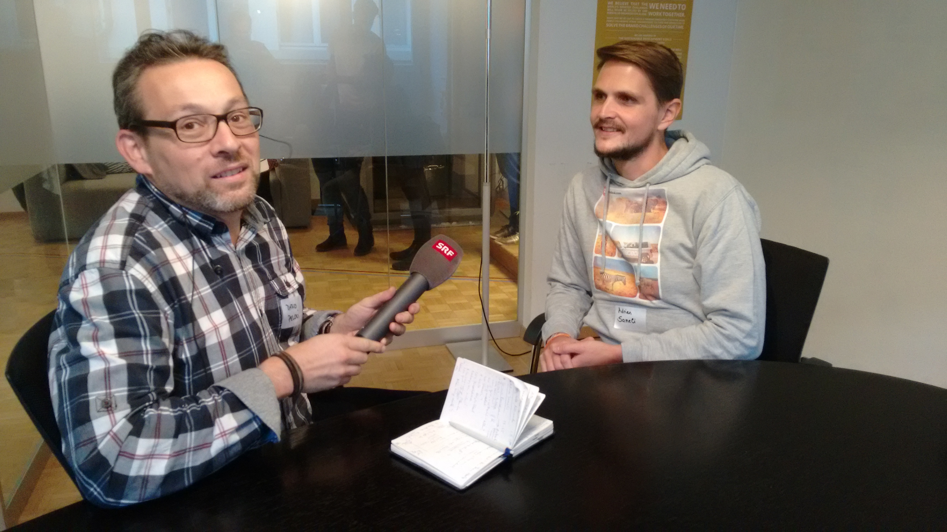 Dario Pelosi SRF im Interview mit Adrian Sameli